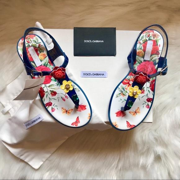 Dolce & Gabbana Shoes - Brand New DOLCE & GABBANA Jeweled Jelly Sandals